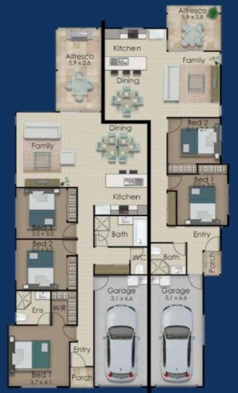 Dual Dwelling Home in Cornubia