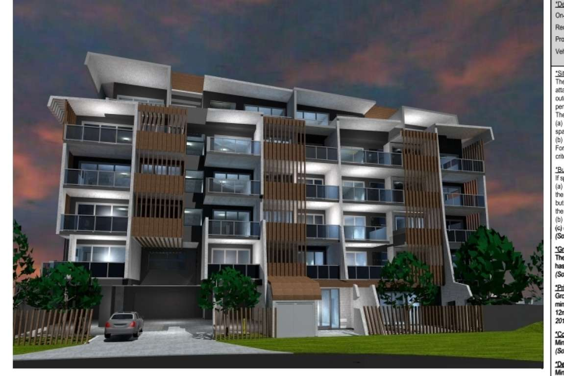DA Approved 49 apartments -12 klms CBD North Brisbane