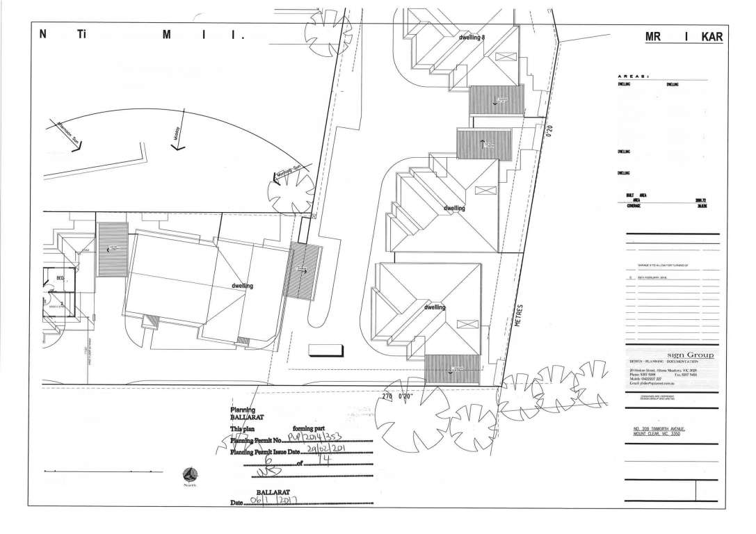 DA Approved Land for 9 Townhouses in Ballarat Central