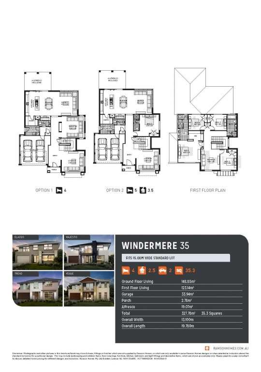 Windermere 35 Design Classic Facade Rawson Homes