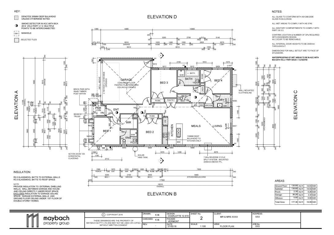 Charlotte 12.519 Design Vermont Facade Maybach Property Group