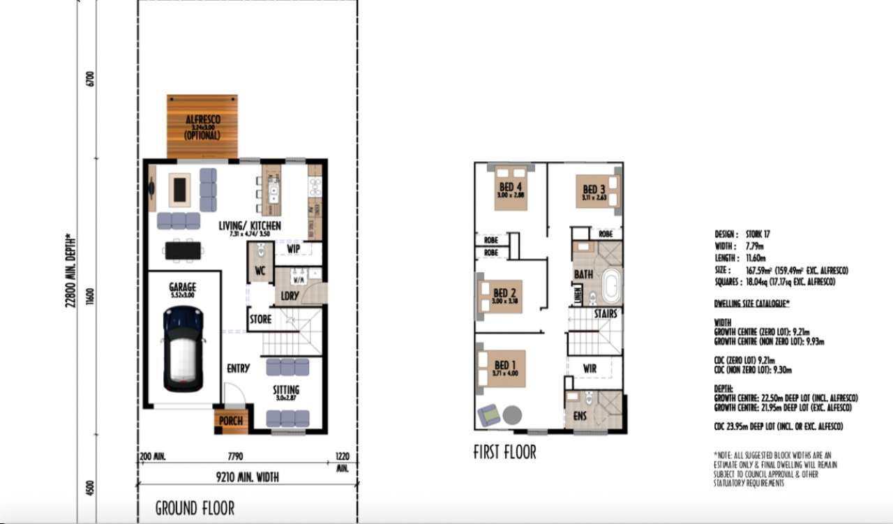 Stork 17 Design Aroona Facade Eagle Homes