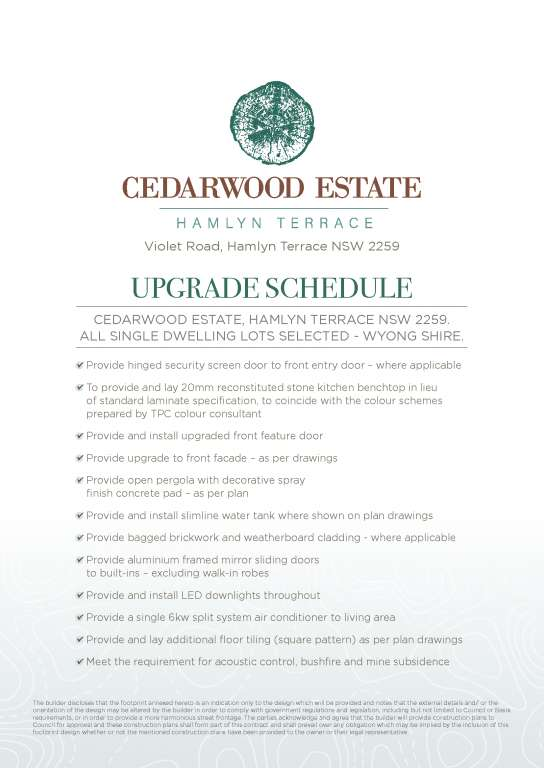 Cedarwood Estate Hamlyn Terrace