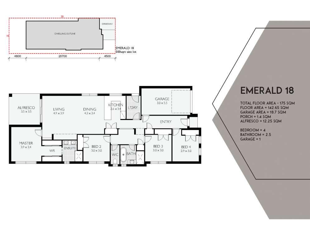 Emerald 18 Design Single Facade Brass Homes