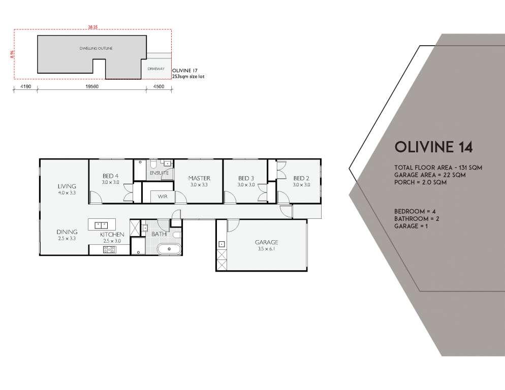 Olivine 14 Design Single Facade Brass Homes