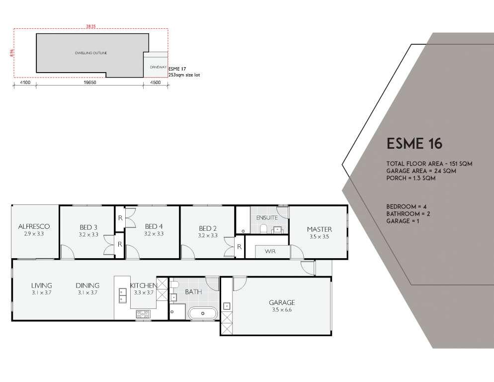 Esme 16 Design Single Facade Brass Homes
